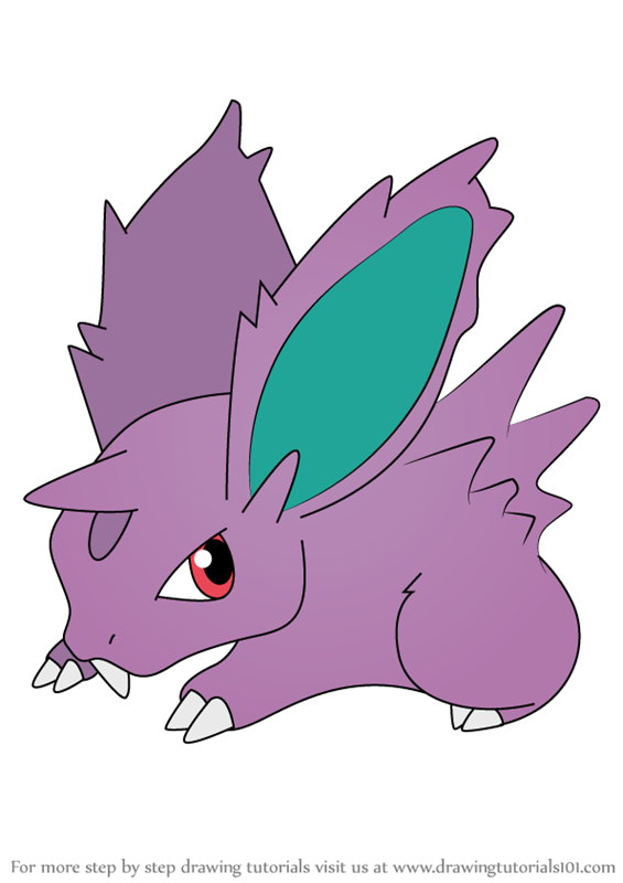 Learn How to Draw Nidoran from Pokemon (Pokemon) Step by ...