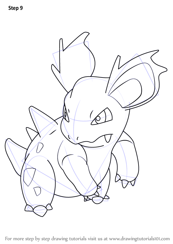 Learn How To Draw Nidorina From Pokemon Pokemon Step By