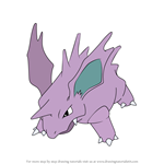 How to Draw Nidorino from Pokemon