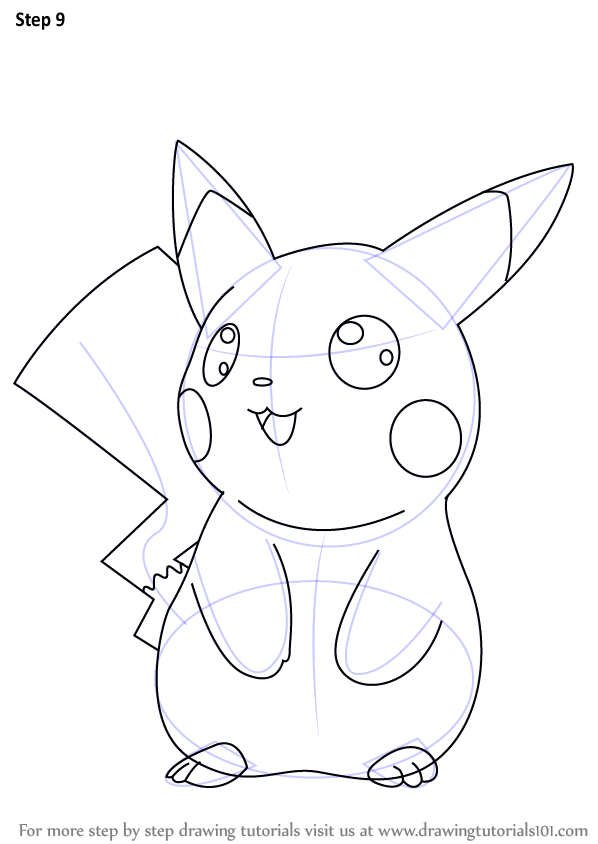 Learn how to draw ninja pikachu from pokemon pokemon step by step drawing tutorials
