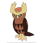 How to Draw Noctowl from Pokemon