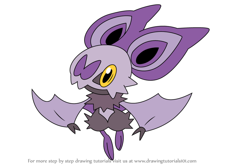 Learn How to Draw Noibat from Pokemon (Pokemon) Step by Step : Drawing ...
