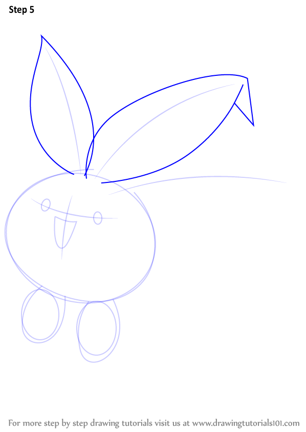 learn how to draw oddish from pokemon pokemon step by