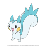 How to Draw Pachirisu from Pokemon