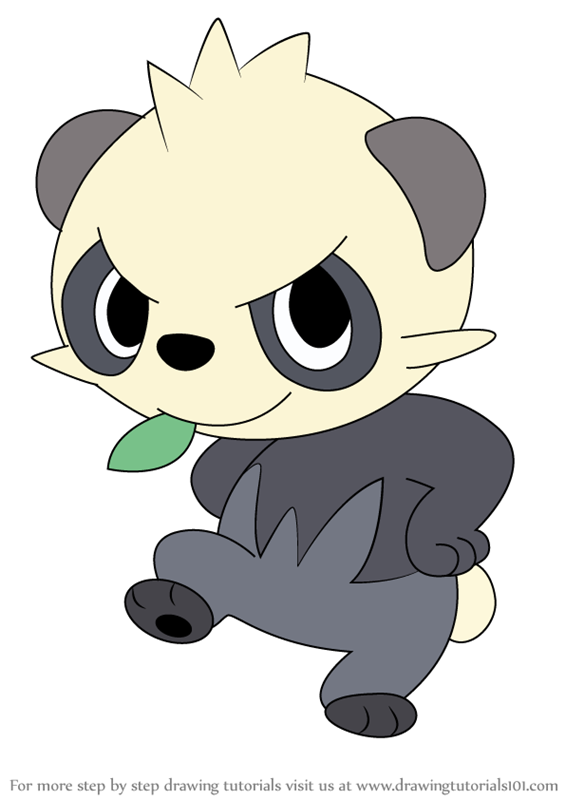 how to draw Pancham from Pokemon step 0