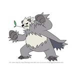 How to Draw Pangoro from Pokemon
