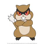 How to Draw Patrat from Pokemon