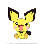 How to Draw Pichu from Pokemon
