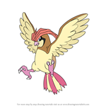 How to Draw Pidgeotto from Pokemon