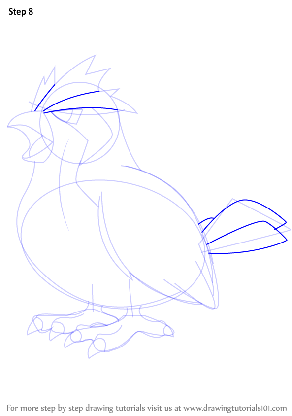 pidgey coloring page - step by step how to draw pidgey from pokemon