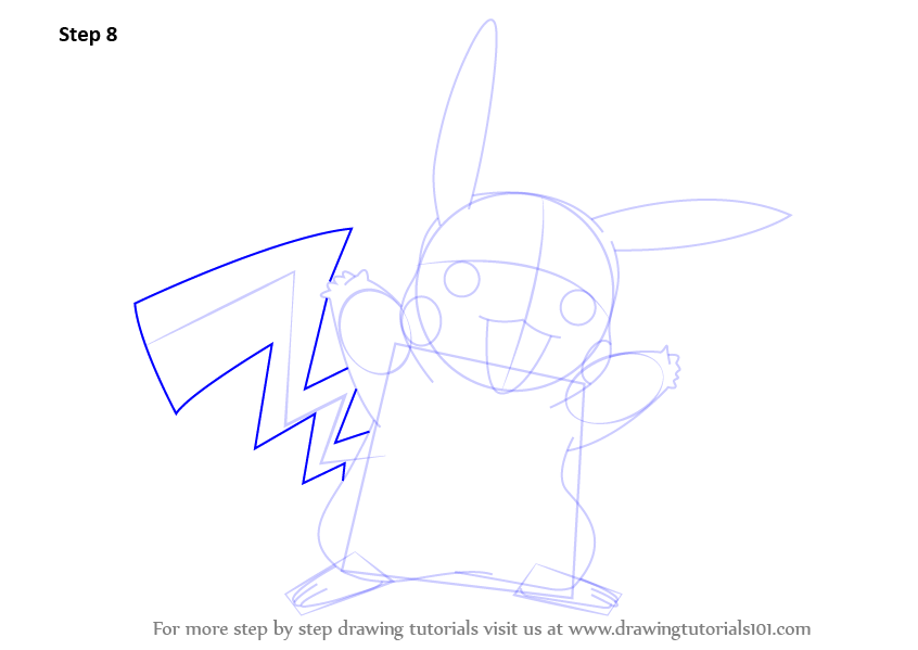 Step by Step How to Draw Pikachu