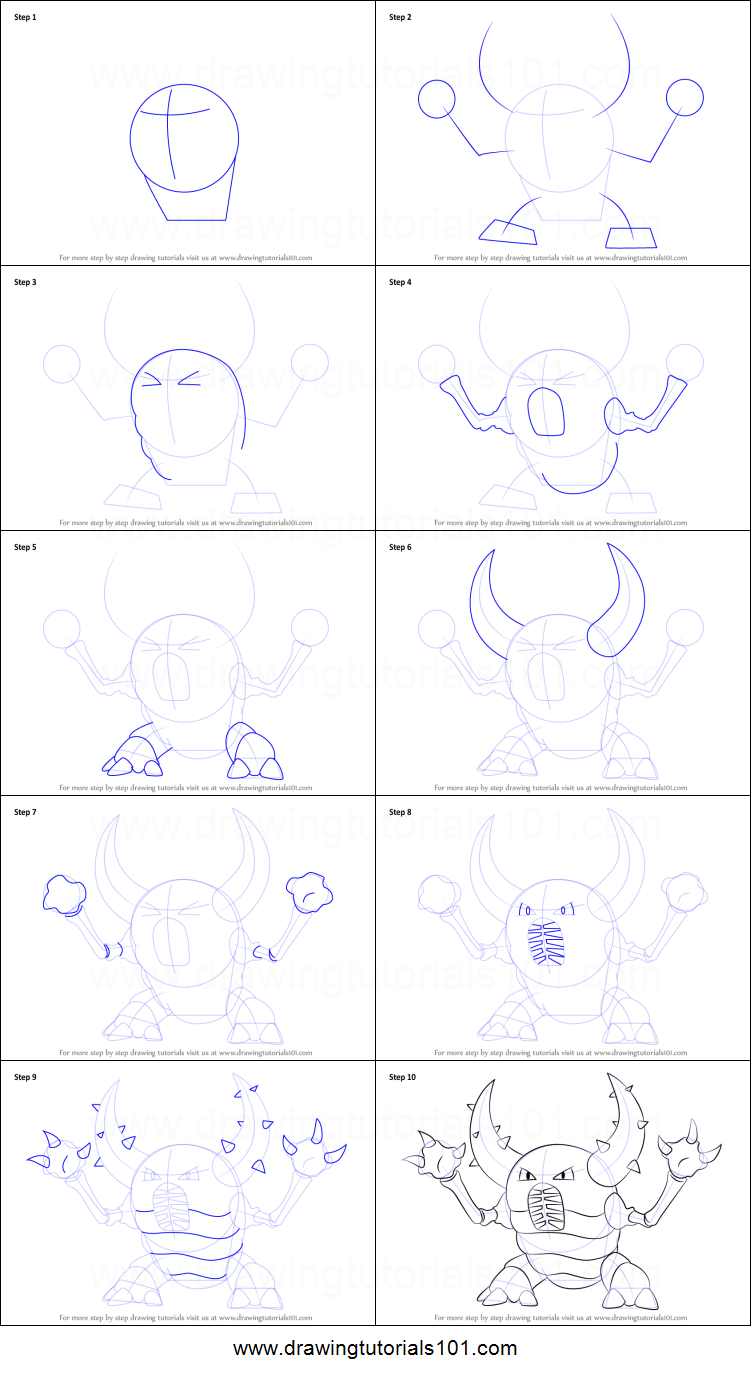 How to Draw Pinsir from Pokemon printable step by step ...