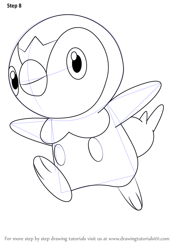 Learn how to draw piplup from pokemon pokemon step by for How to make doodle art
