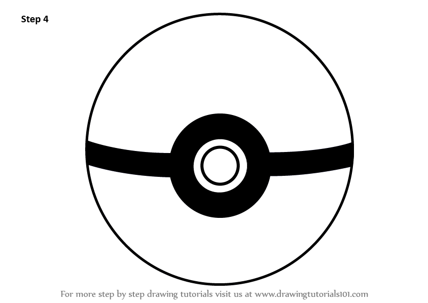 Learn How to Draw Pokeball from Pokemon (Pokemon) Step by Step ...