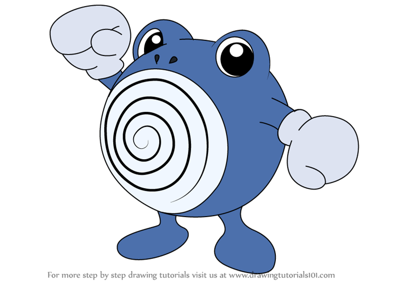 how to draw poliwhirl from pokemon