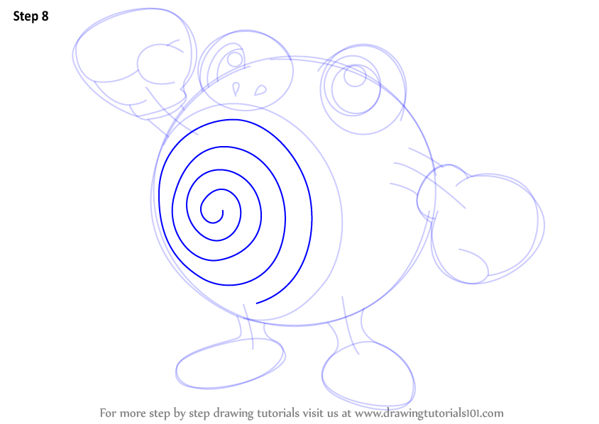learn how to draw poliwhirl from pokemon pokemon step by