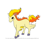 How to Draw Ponyta from Pokemon