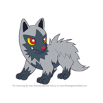 How to Draw Poochyena from Pokemon