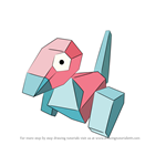 How to Draw Porygon from Pokemon