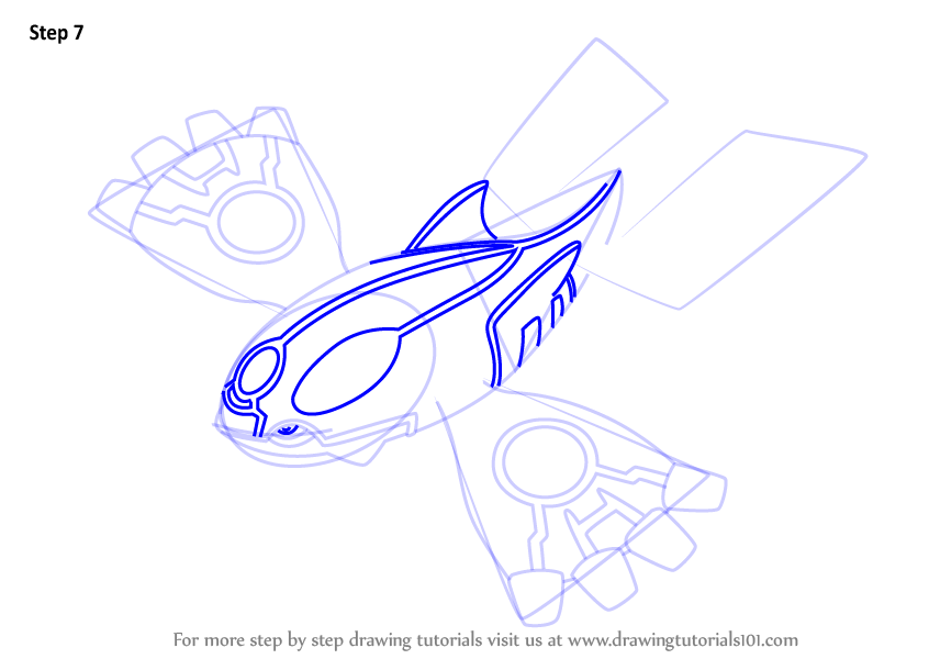 Learn How To Draw Primal Kyogre From Pokemon Pokemon