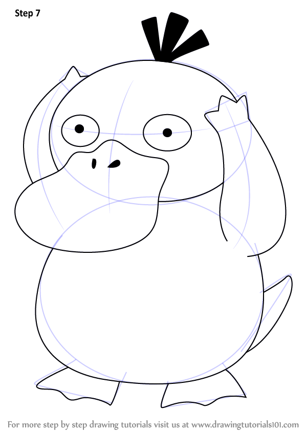 Step By Step How To Draw Psyduck From Pokemon