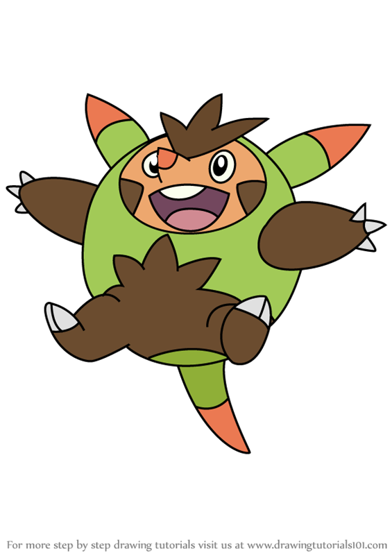 How To Draw Quilladin From Pokemon
