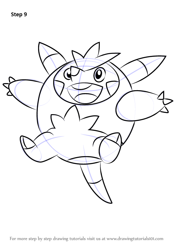 Learn How To Draw Quilladin From Pokemon Pokemon Step By Step