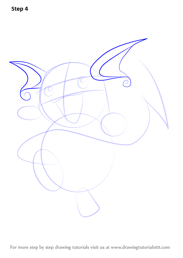 learn how to draw raichu from pokemon  pokemon  step by step   drawing tutorials