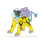 How to Draw Raikou from Pokemon
