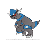 How to Draw Rampardos from Pokemon