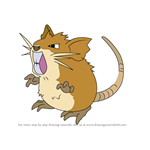 How to Draw Raticate from Pokemon