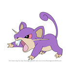 How to Draw Rattata from Pokemon