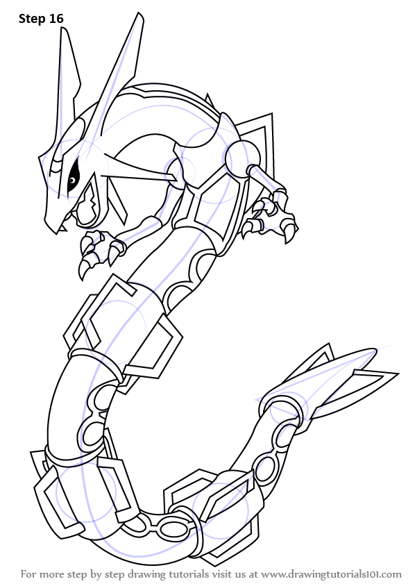Learn How to Draw Rayquaza from