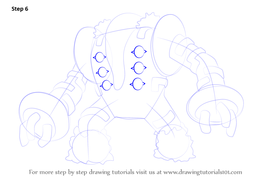 Step By Step How To Draw Regigigas From Pokemon