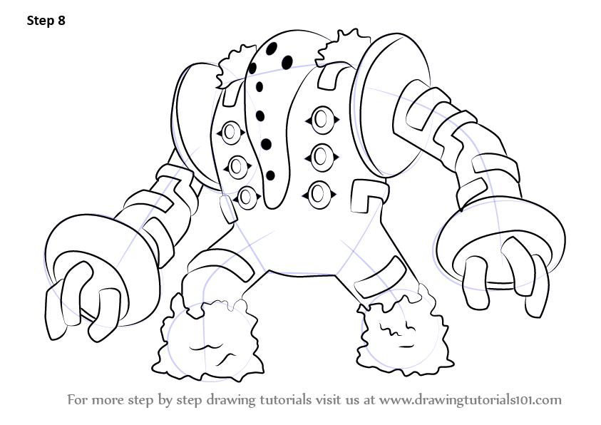 learn how to draw regigigas from step by