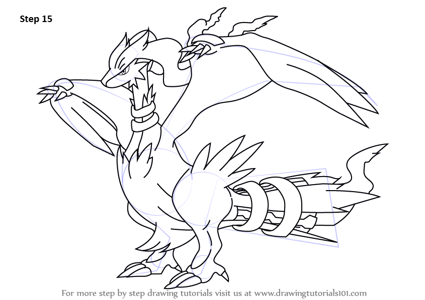 Learn How to Draw Reshiram from Pokemon (Pokemon) Step by ...