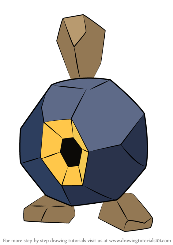 Learn How To Draw Roggenrola From Pokemon Pokemon Step