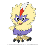 How to Draw Rufflet from Pokemon