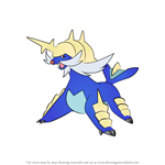 How to Draw Samurott from Pokemon