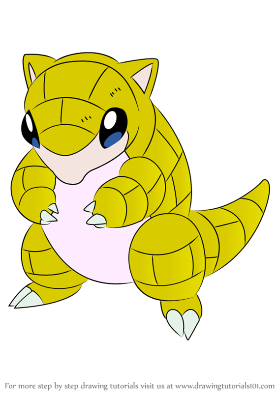 Learn How To Draw Sandshrew From Pokemon Pokemon Step By