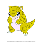 How to Draw Sandshrew from Pokemon