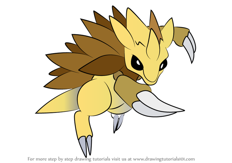 Step by Step How to Draw Sandslash