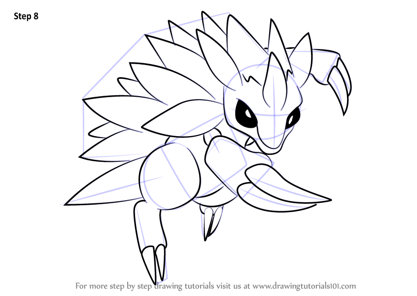 Learn How to Draw Sandslash from Pokemon (Pokemon) Step by Step ...