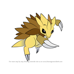 How to Draw Sandslash from Pokemon