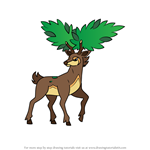How to Draw Sawsbuck - Summer Form from Pokemon