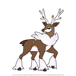 How to Draw Sawsbuck - Winter Form from Pokemon