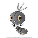 How to Draw Scatterbug from Pokemon