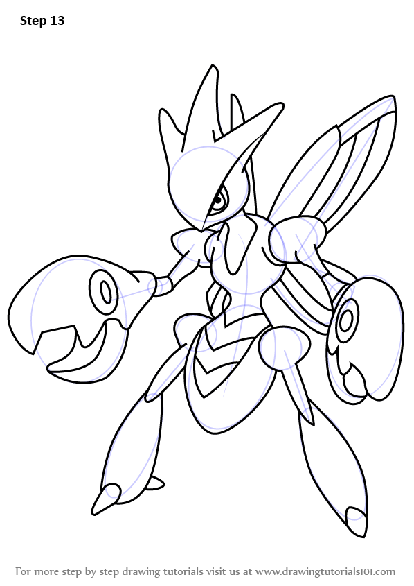 Learn How To Draw Scizor From Pokemon Pokemon Step By
