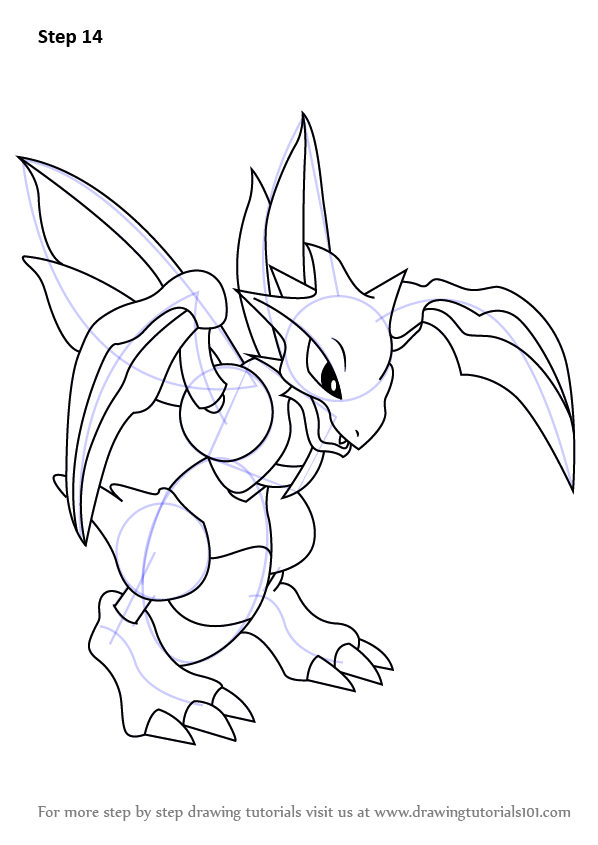 Step by Step How to Draw Scyther