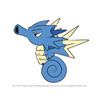 How to Draw Seadra from Pokemon